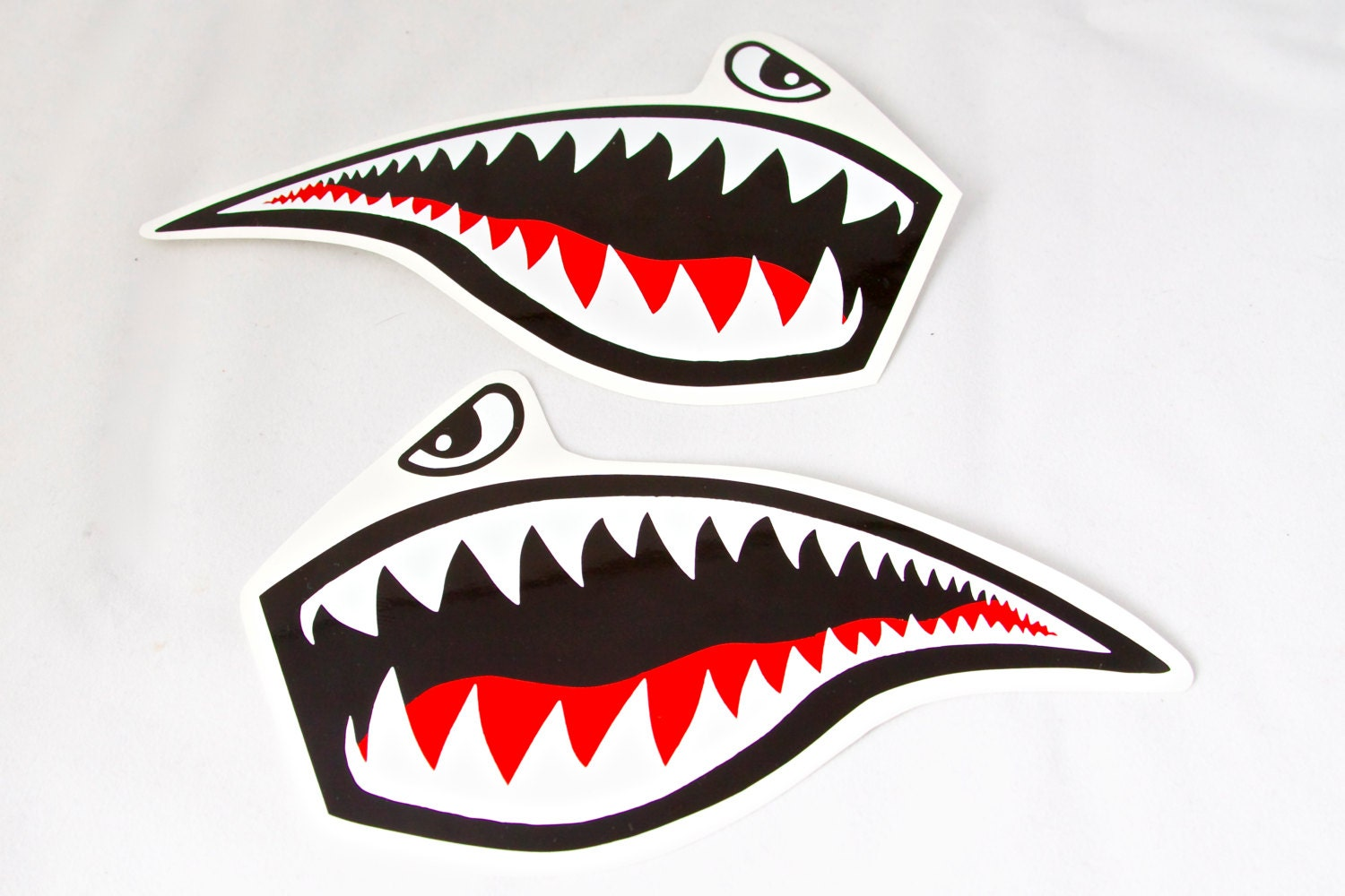 Shark mouth decal