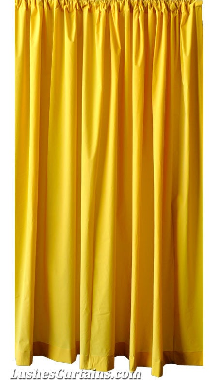 Bright yellow curtains