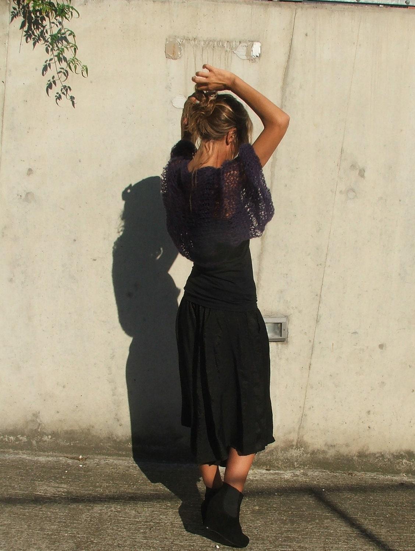indigo kimono sleeved shrug