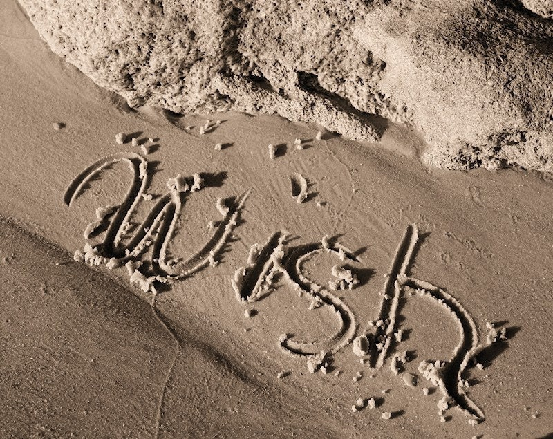 Beach Wish in Golden Sand Fine Art Photograph - EyeShutterToThink