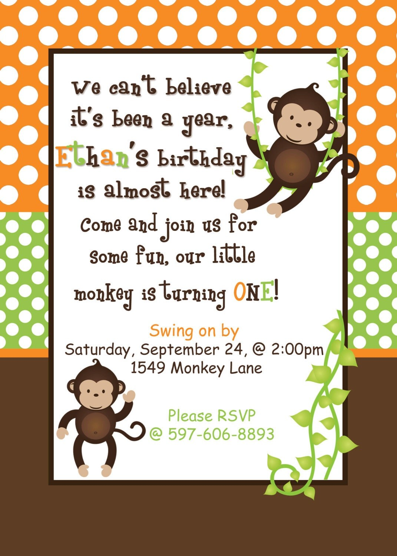 monkey invitations print free