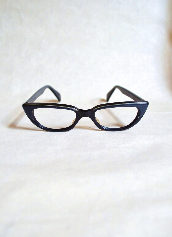 1960s Blue brow lucite cat eye frames - Viennaline - Veramode