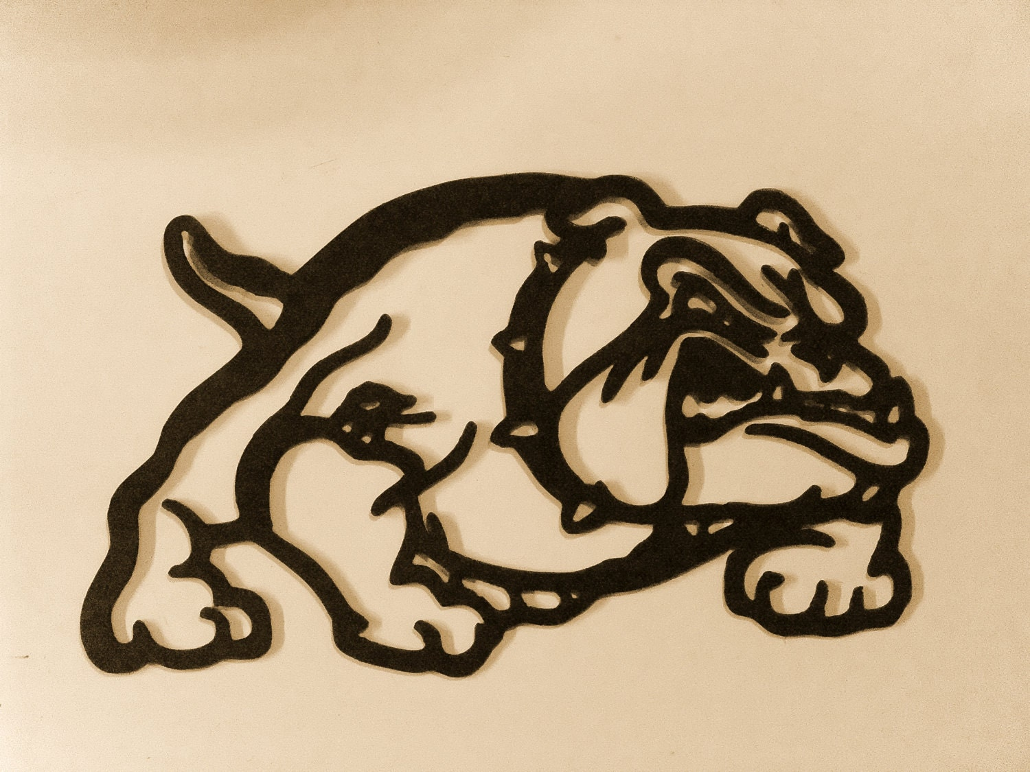 bull dog metal art wall decor by bkcreations1 on etsy