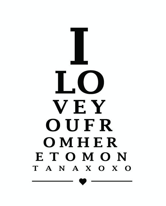 SALE MONTANA, USA. Eye Chart - 8 x 10 digital print design - custom