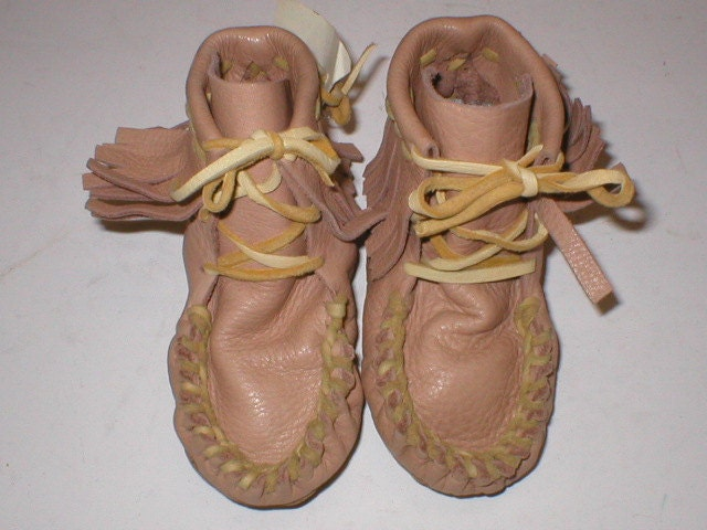 Native american handmade buttery soft leather ankle moccasins for 1