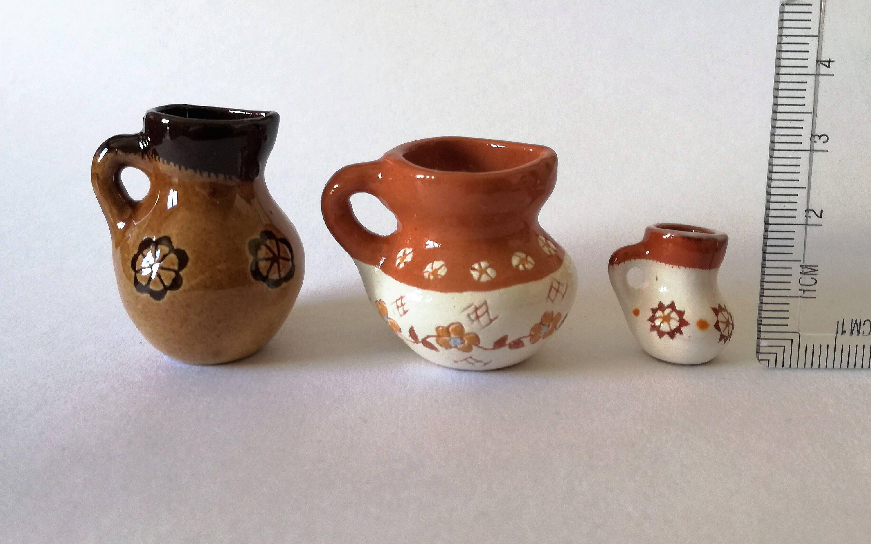 Ceramic jug vase Miniature handmade pottery jug Art deco ceramic decor Ceramics and pottery Pottery handmade Ceramic vases