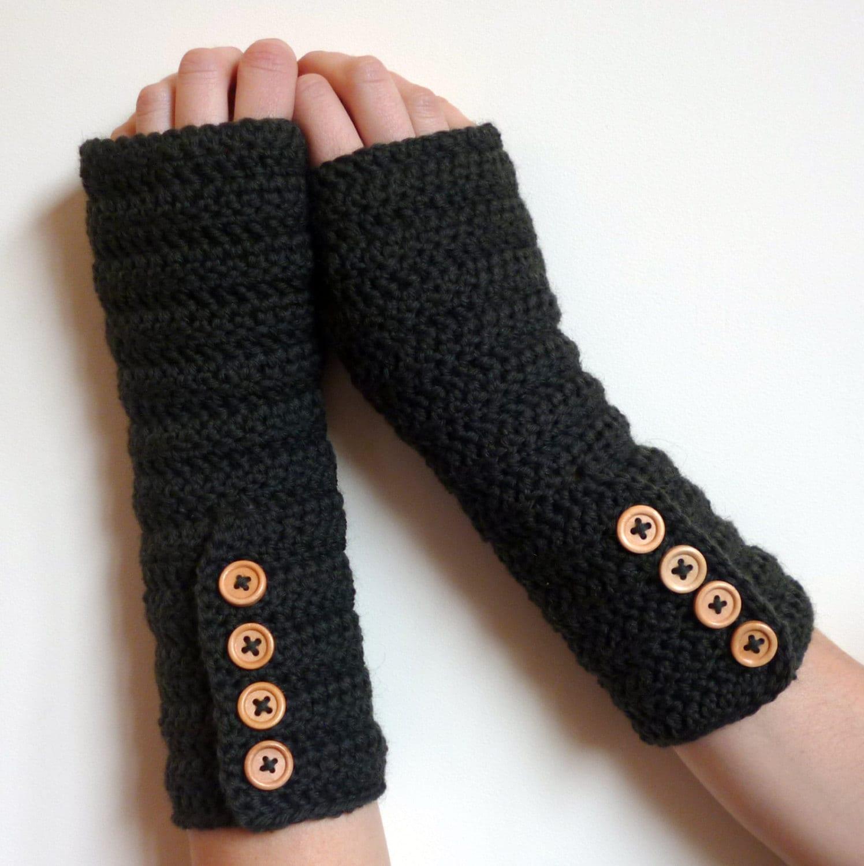 Knitting Pattern For Hobo Gloves : Fingerless Gloves FREE SHIPPING Crochet Arm by captainapricot