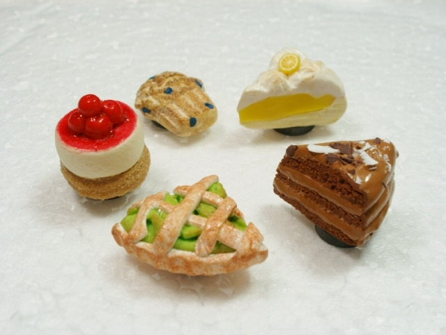 Fridge Magnets Desserts Set Of 5 Polymer Clay By