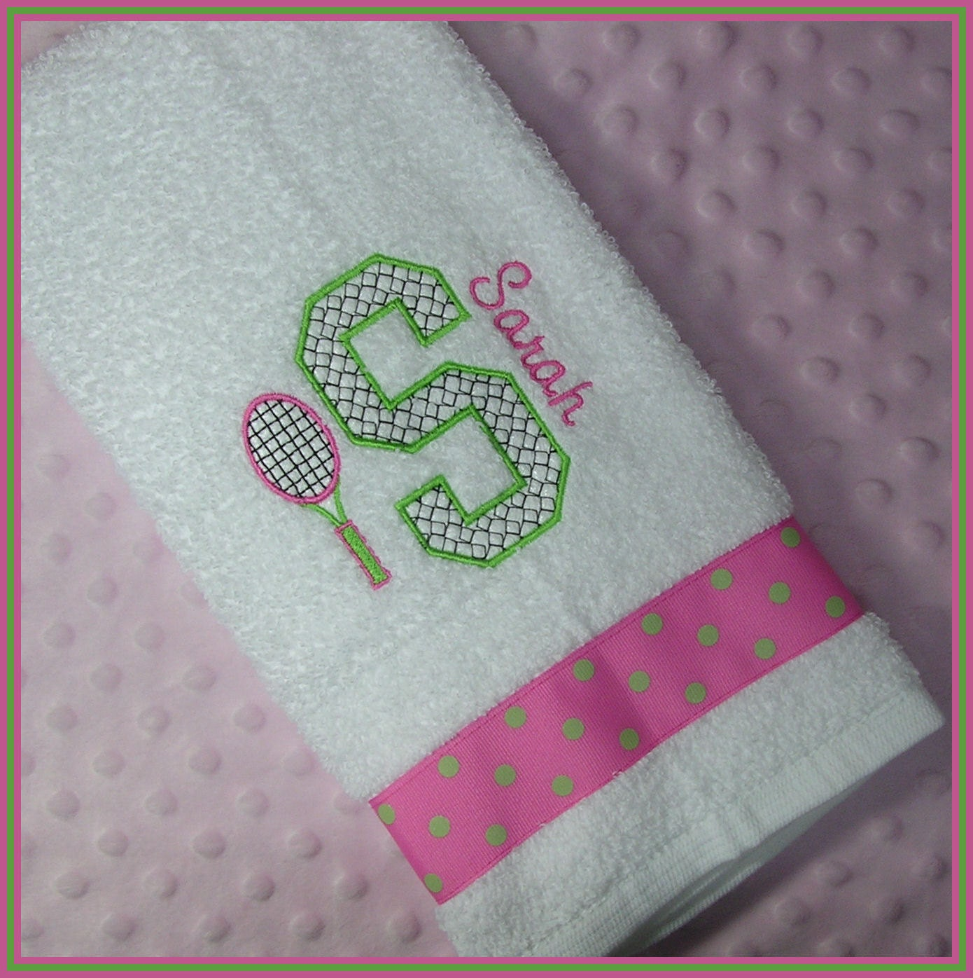 Personalized Tennis Racket Sweat Towel With By