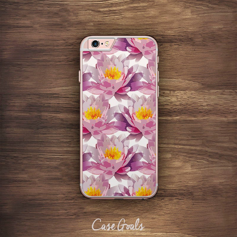 Purple Lotus iPhone Floral Pattern iPhone 6 Case iPhone 6S Case iPhone 5S Case iPhone 5 Case iPhone 5C Case iPhone 7 Case iPhone 4 Case