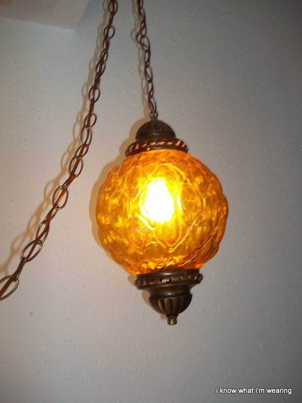 Mod Swag Lamp 60 S Gold Hanging Light By Bestfavoritethings