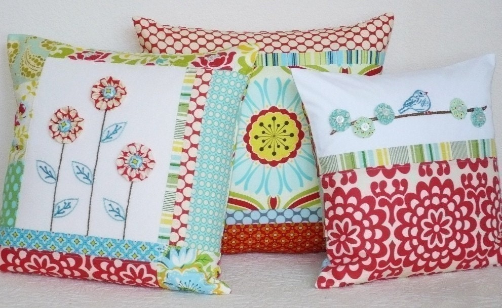 Cute Pillow Sewing Patterns : Items similar to Sewing Pattern PDF - Patchwork Pillows I on Etsy