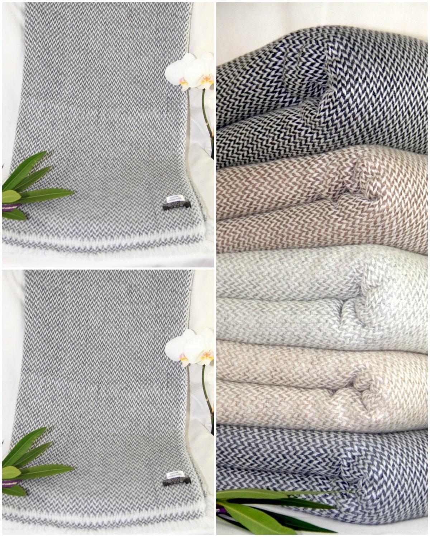 Cashmere Blanket Throw Cashmere Pashmina Throw Pashmina Blanket Chunky Knit Winter Cashmere Wrap Warm Handmade by local Artisan