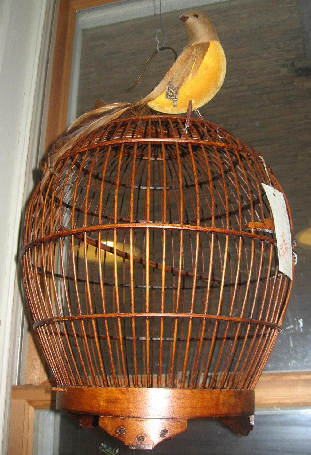 SALE Antique Hanging Wooden Bird Cage by katesclosetrefind ...