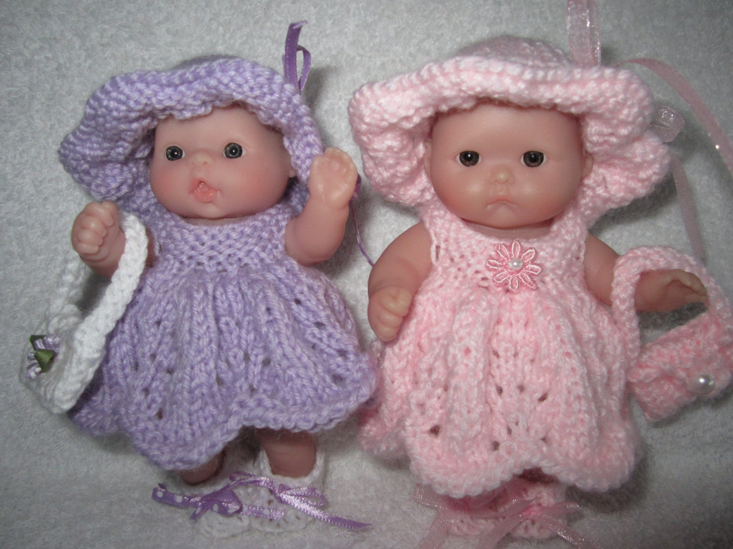 Knitting Pattern Berenguer Baby Doll Pretty Party Dress by WeGirls