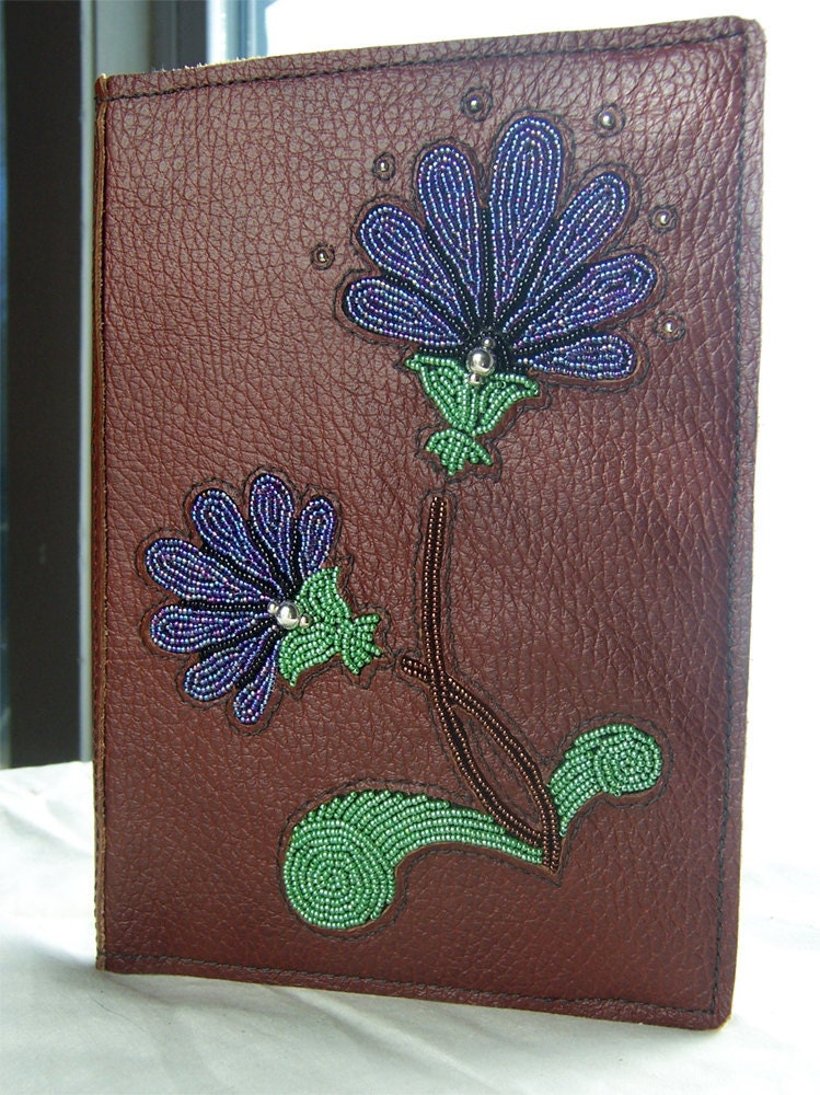 Items similar to leather day planner journal cover with