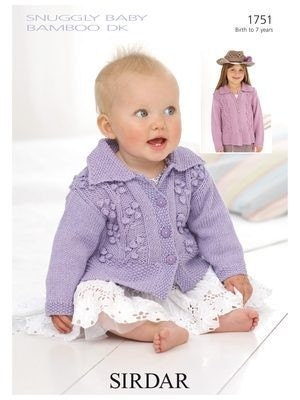 baby bamboo knitting pattern jacket cardigan 1751 by woolnlove baby