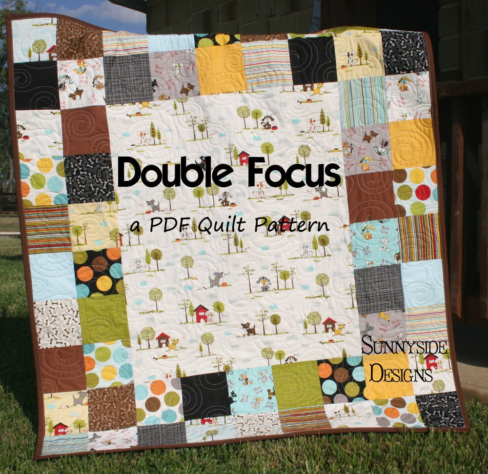 Quilt Pattern Using Focus Fabric : Unavailable Listing on Etsy