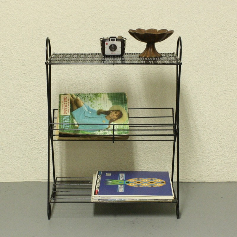 Vintage stand telephone stand magazine stand magazine rack end