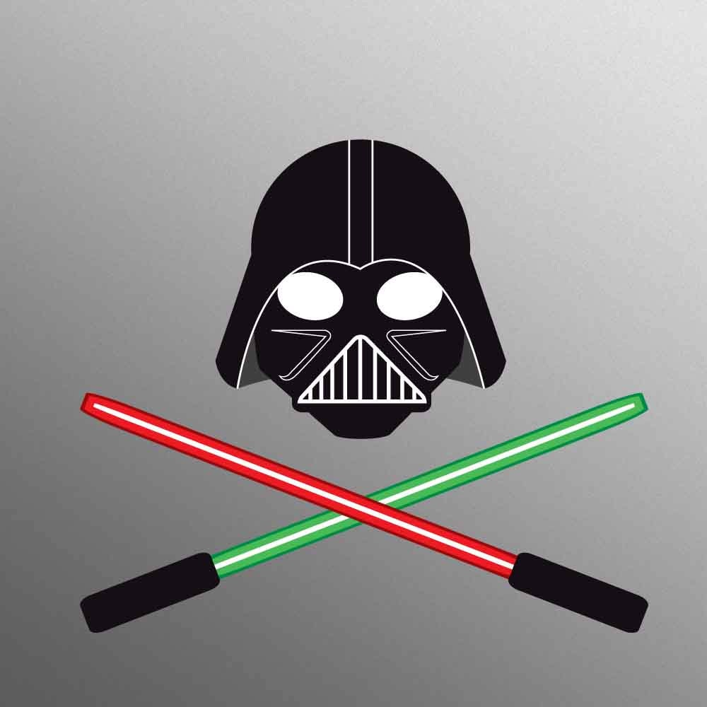 Darth Vader Lightsabers Style Decal Laptop Sticker for Apple MacBook  Pro  Air