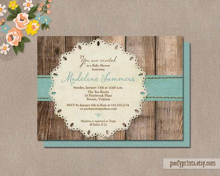 rustic baby boy shower invitations diy printable by
