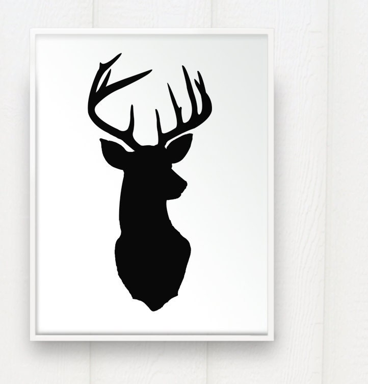 Reindeer Face Silhouette Images & Pictures - Becuo