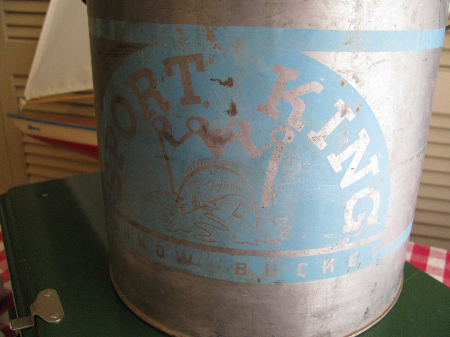 Galvanized Metal Vintage Minnow Bucket Sport King By Gaelianna