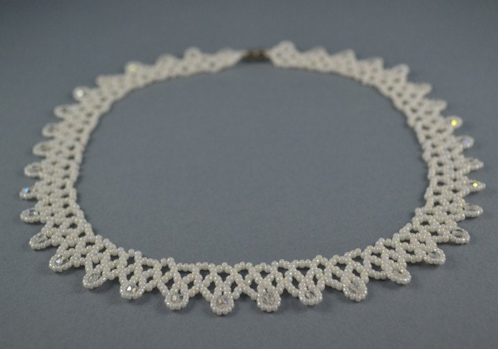 Wedding Necklace - Collar Toho beads - BeadsAmi