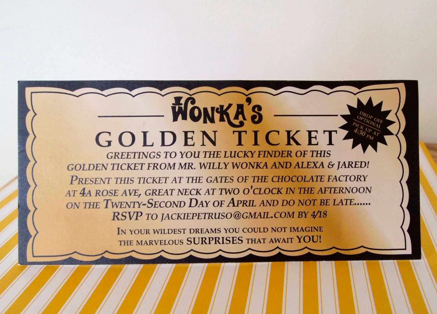 Willy Wonka Golden Ticket Invitation Template were Lovely Sample To Create Beautiful Invitation Template