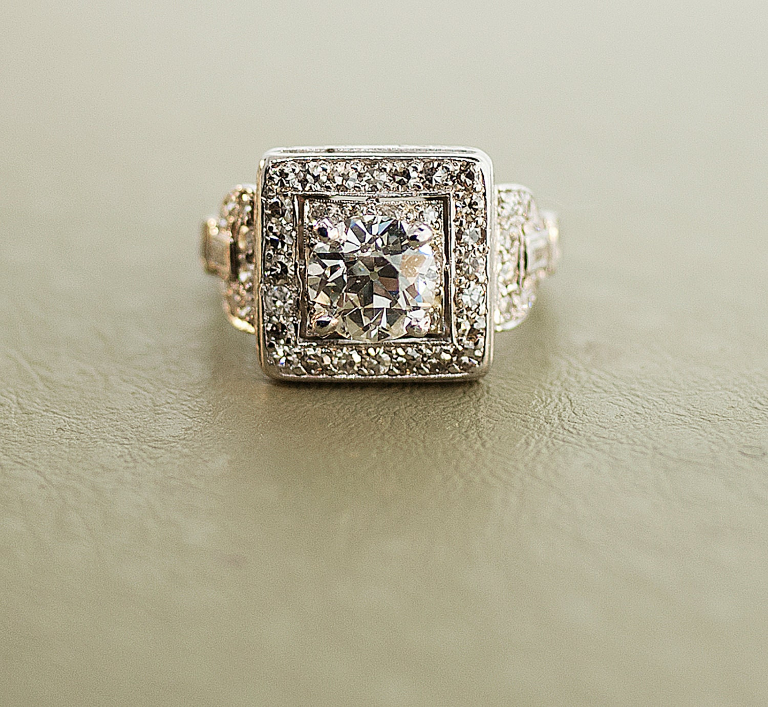 antique ring beautiful platinum and by sitfinejewelry