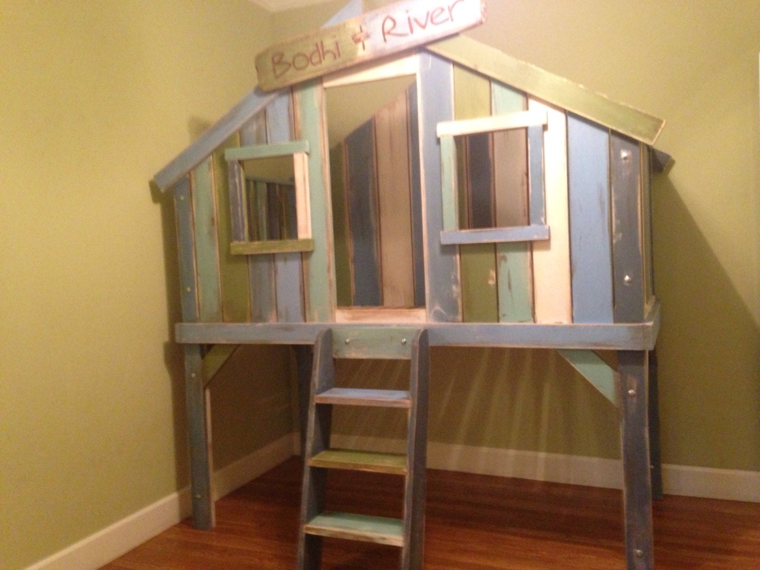 Treehouse Loft Bed By Wibbelerwoodworking On Etsy