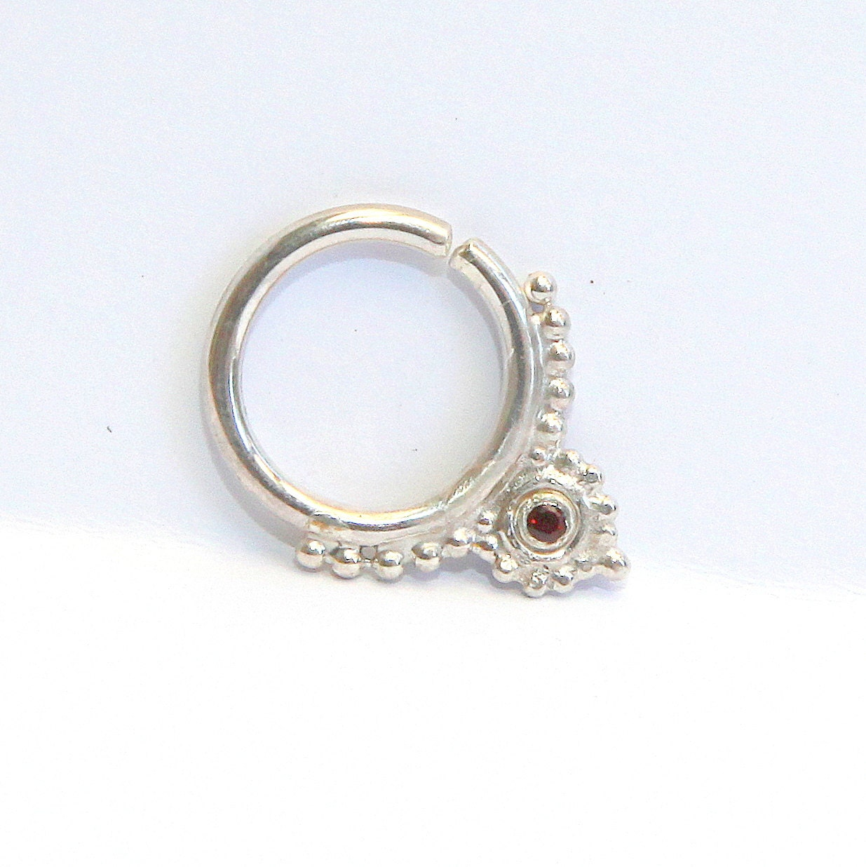 items similar to septum jewelry 16g sterling