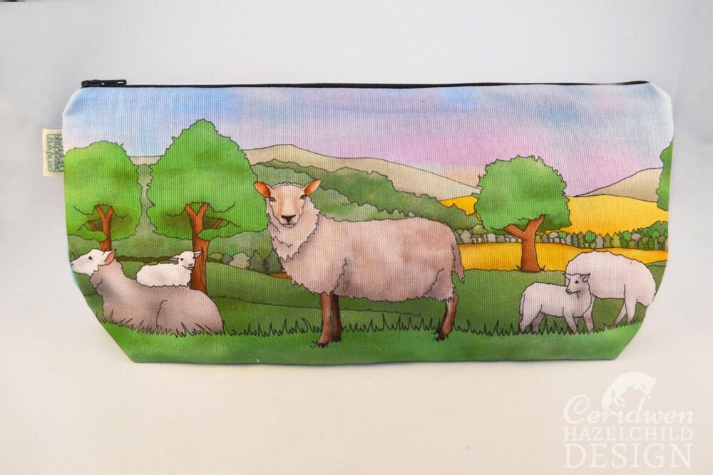 Sheep Toiletry Wash Bag  Makeup Bag  Pencil Case