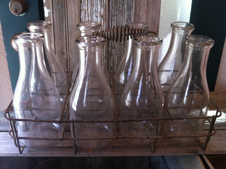 vintage milk bottles carrier by missclemintines on etsy. Black Bedroom Furniture Sets. Home Design Ideas