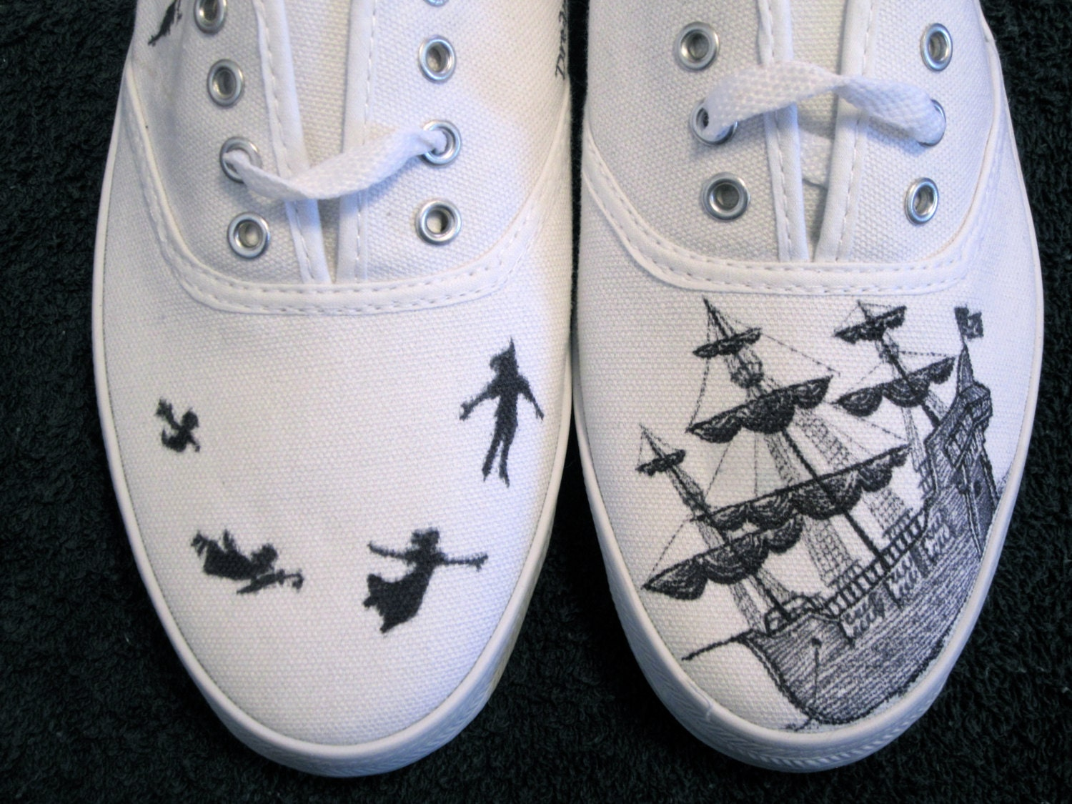 Custom Peter Pan Canvas Sneaker
