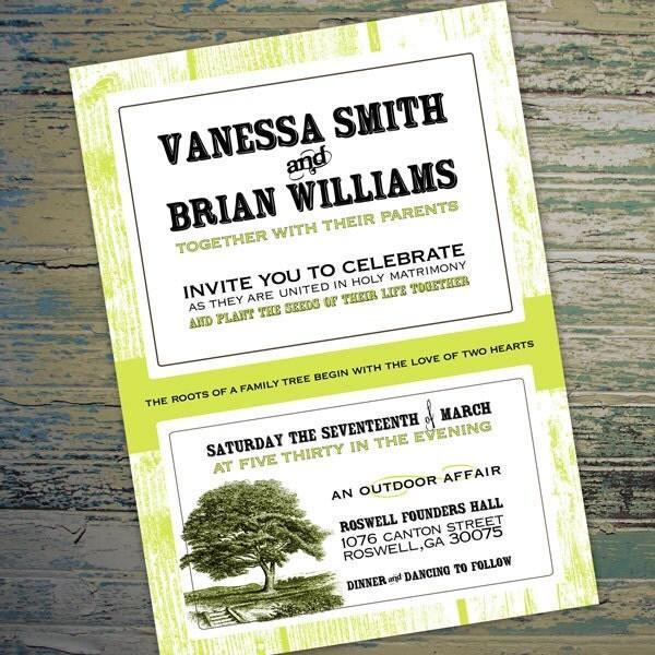 Fois Bois Outdoor Wedding invitation DIY Printable