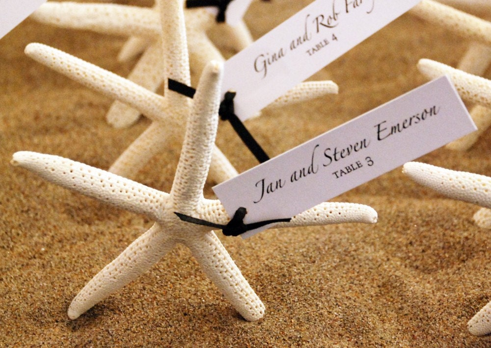 starfish escort cards or wedding favors