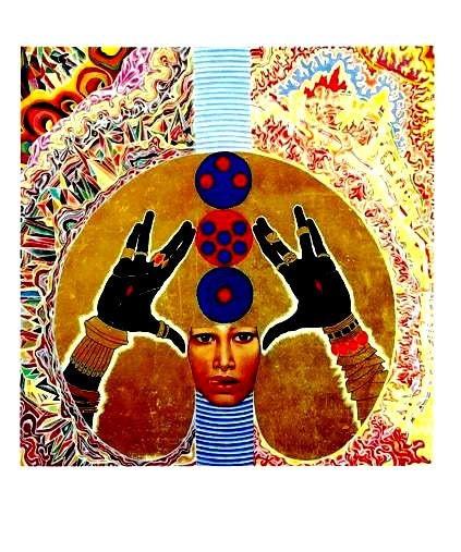 Vintage 1960s Art Card - The Angel Series - by Artist Mati Klarwein - 5 Panels