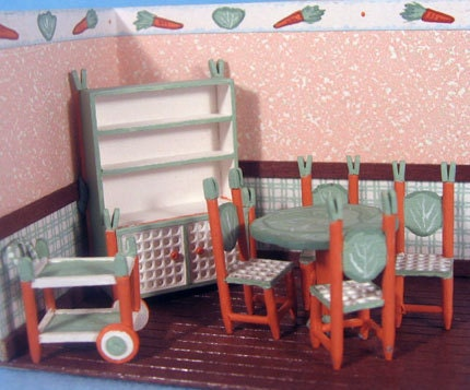 Whimsical dining room furniture set kit 25 in by pamelajunksminis - Dining room chair kits ...