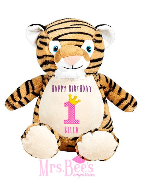 Personalized Tiger Soft Toy Gifts for her birthday gifts personalized embroidered teddy gifts for kids tiger plushie cute gifts softie