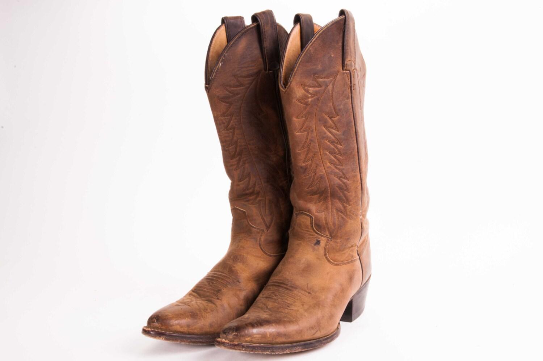 s justin cowboy boots size 6 5 by metropolisnycvintage