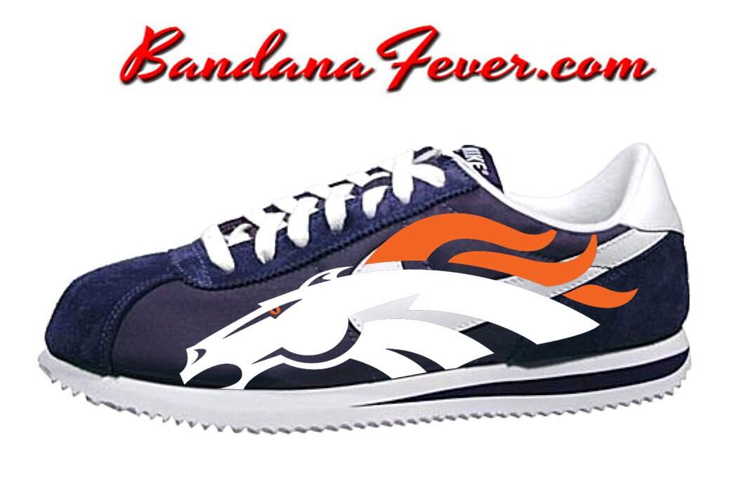 best website d5166 f8799 high-quality Nike Denver Broncos Cortez Nylon Midnight by  BandanaFeverDesigns