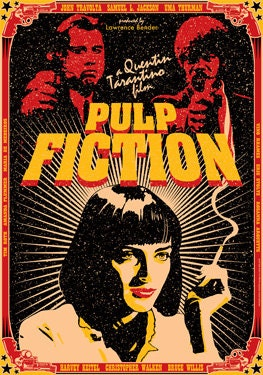 PULP FICTION - 1994 - movie from Quentin Tarantino - artistic movie poster - locandina manifesto artistico cinema