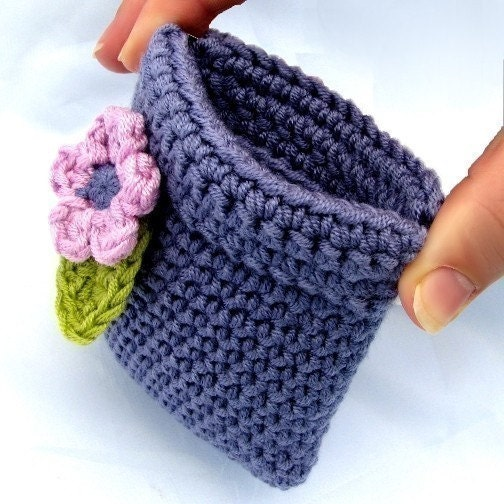 Coin Purse Crochet Pattern : Pattern Crochet Coin Purse Squeeze Pinch Frame with Flower Instant ...