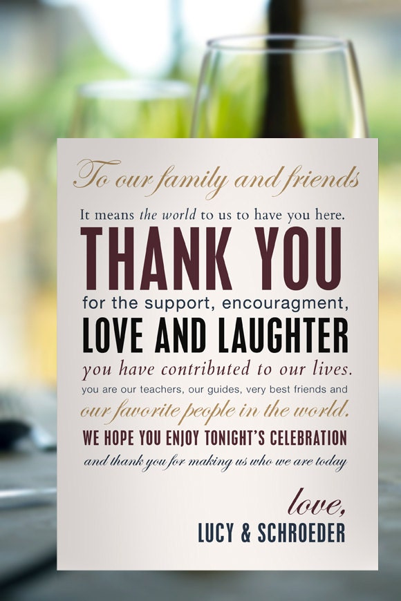 Reception Wedding Thank You Card Modern By TheBuiltEnvironment