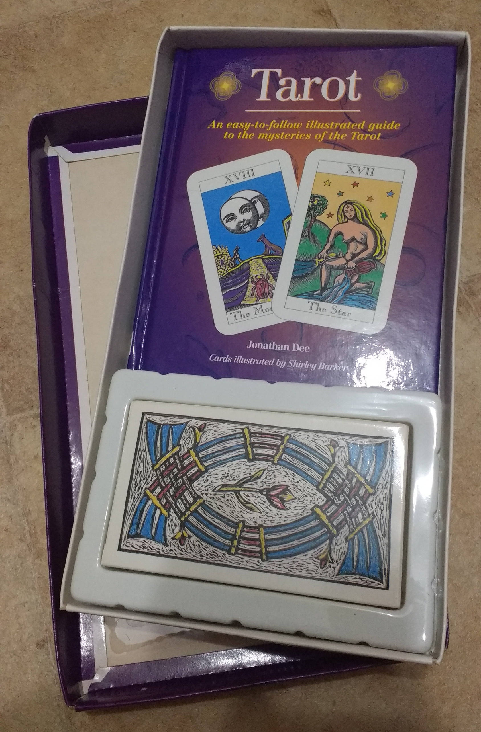 Vintage set of Tarot card with book