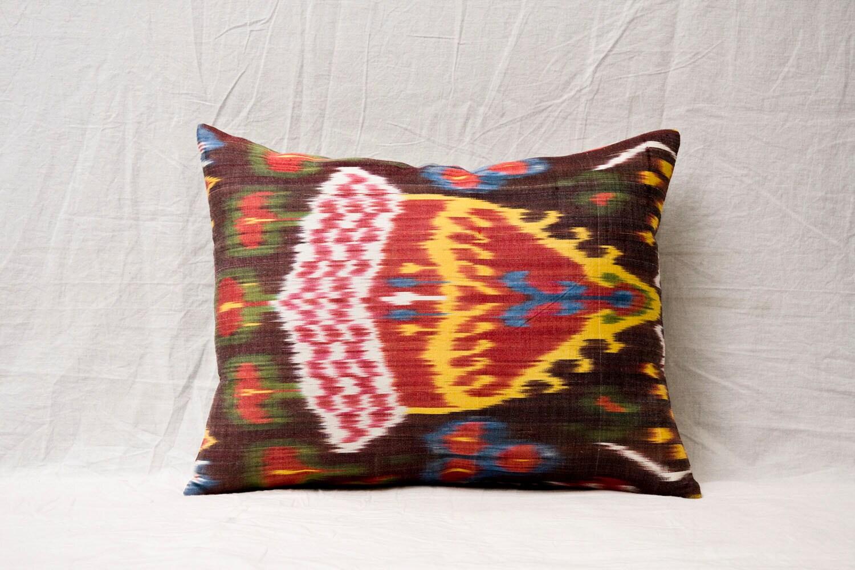 14 x 18 Decorative Pillow Ikat Pillow Cover Throw Pillow Accent Pillow Silk Pillow Red Cushion -00723-62 - YASTK