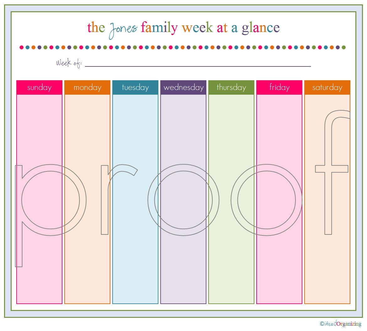 week at a glance printable calendar