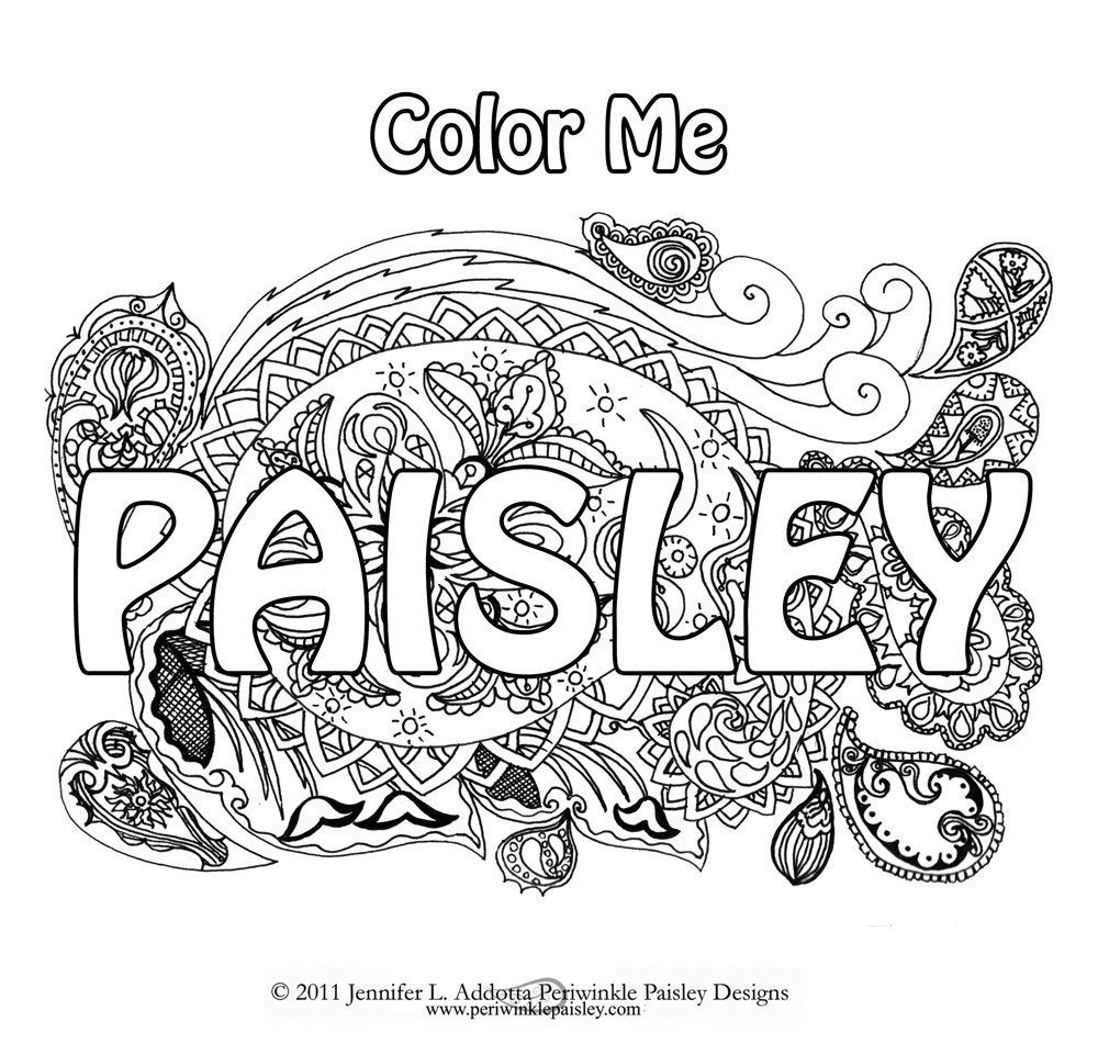 Color Me Paisley Art Coloring Book Digital By