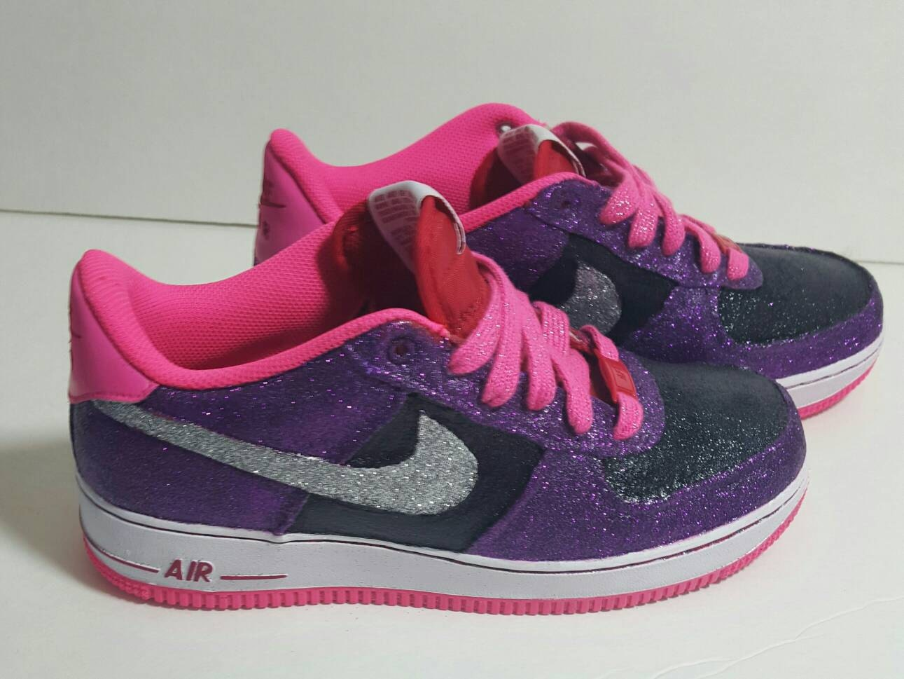 57f2d0aea7a6 lovely Nike Air Force 1 Glitter Sneakers Size 6 youth by KikosDesigns